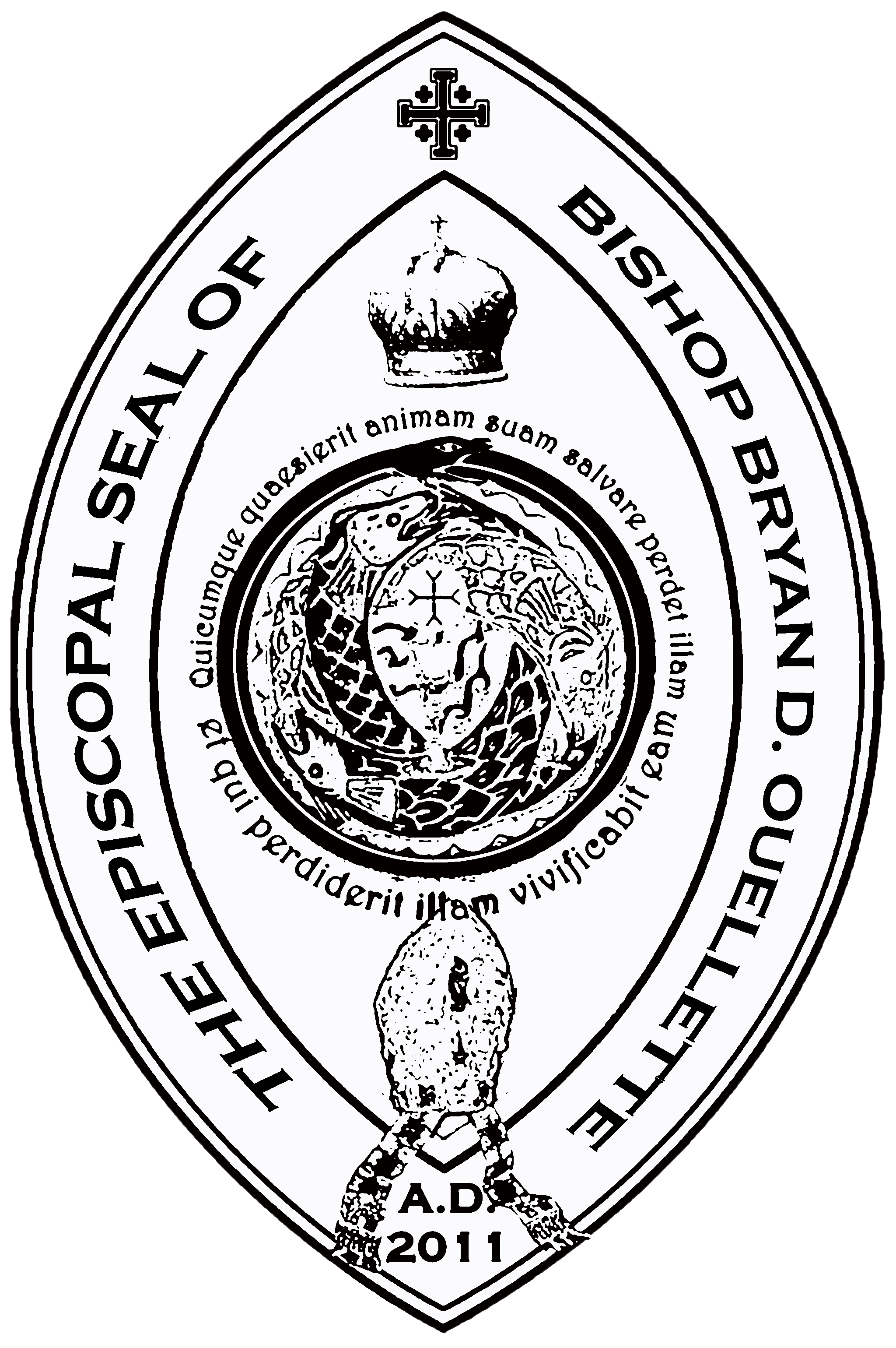 The Episcopal Seal of Bishop Bryan D. Ouellette, Ph.D., SOSM