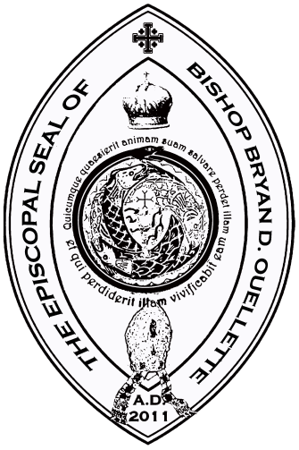 Episcopal Seal of Bishop Bryan D. Ouellette, Ph.D., SOSM